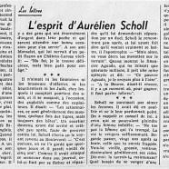 «L'esprit d'Aurélien Scholl»