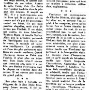 «William M. Thackeray naquit il y a 150 ans»