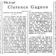 «Clarence Gagnon»