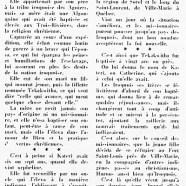 «La vierge iroquoise de Ville-Marie»