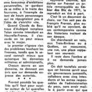 «De François Provost, homme honnête et modeste, qui fut gouverneur de la ville des Trois-Rivières»