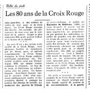«Les 80 ans de la Croix-Rouge»