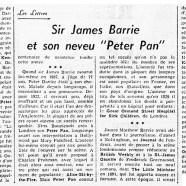 """«Sir James Barrie et son neveu """"Peter Pan""""»"""