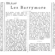 «Les Barrymore»