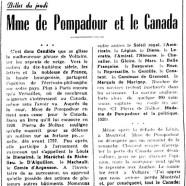 «Mme de Pompadour et le Canada»