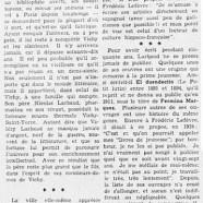 «Valéry-Larbaud qui n'est pas phophète à Vichy»