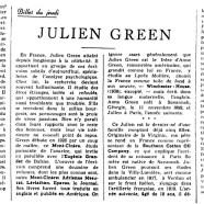 «Julien Green»