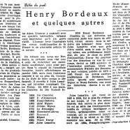 «Henry Bordeaux et quelques autres»