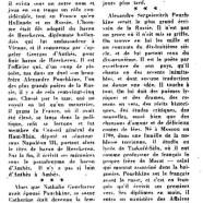 «Mort de Pouchkine, il y a 125 ans»