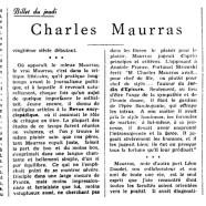 «Charles Maurras»