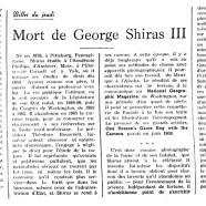 «Mort de George Shiras III»