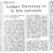 «Ludger Duvernay et la fête nationale»