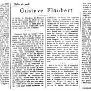 «Gustave Flaubert»