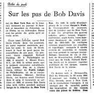 «Sur les pas de Bob Davis»