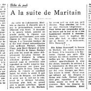 «À la suite de Maritain»