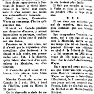 «Constantin-Weyer en sa vie intime»