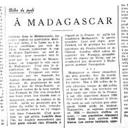 «À Madagascar»