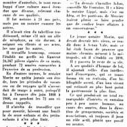 «Le notaire Victor Morin mourut jeune à 95 ans»