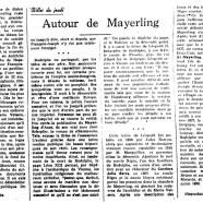 «Autour de Mayerling»