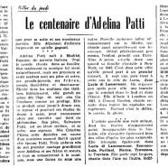 «Le centenaire d'Adelina Palli»