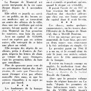 «La Banque de Montréal et sa longue histoire»