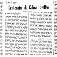 «Centenaire de Calixa Lavallée»