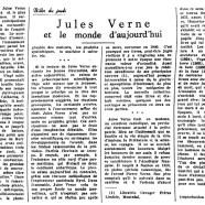 «Jules Verne et le monde d'aujourd'hui»