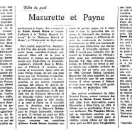 «Mazurette et Payne»