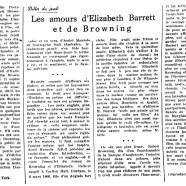 «Les amours d'Elizabeth Barrett et de Browning»