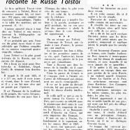 «Quand le Russe Troyat raconte le Russe Tolstoï»