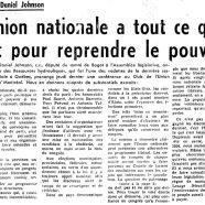«L'Union nationale a tout ce qu'il faut pour reprendre le pouvoir»