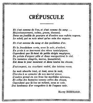 Poésie Les écrits De Harry Bernard