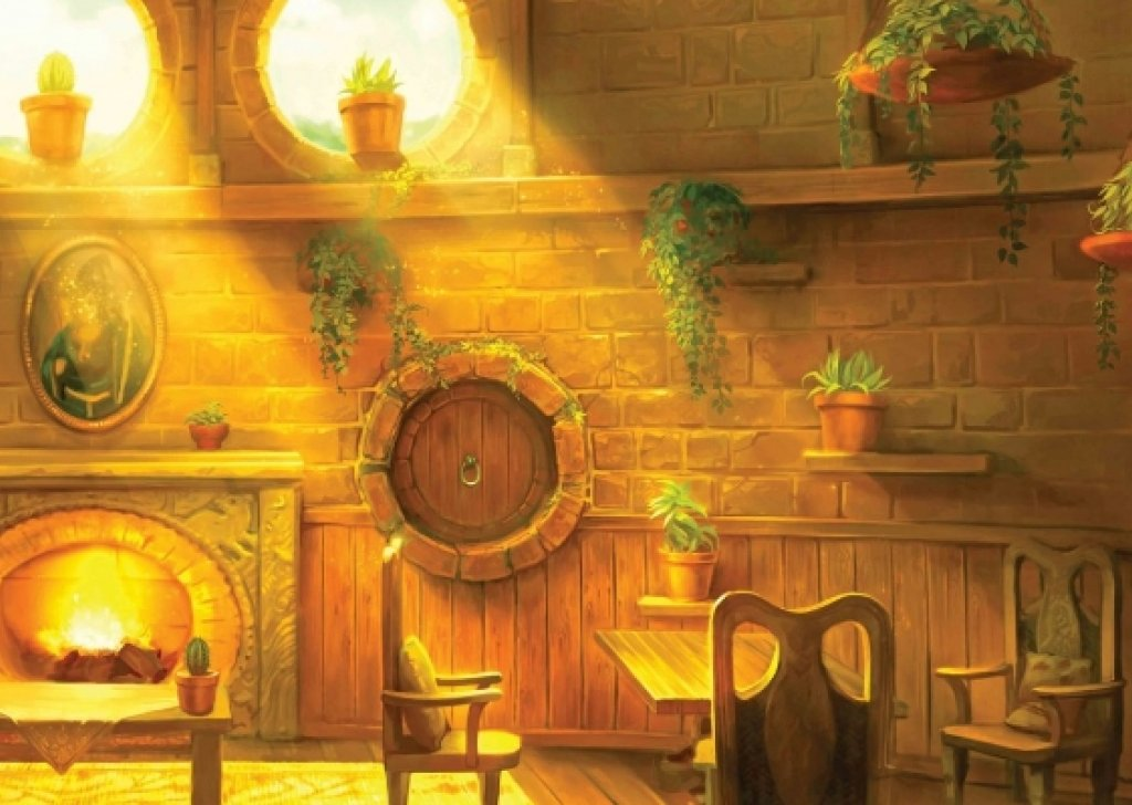 The Hufflepuff common room a safe cozy homey place to