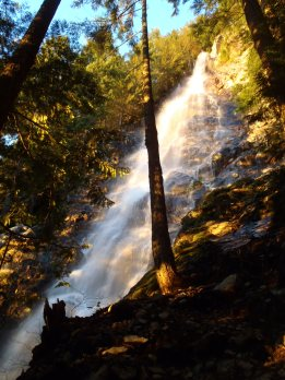 Kamikaze Falls in the alpenglow