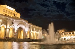 Yerevan Square at Night
