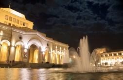 Yerevan Square at Night