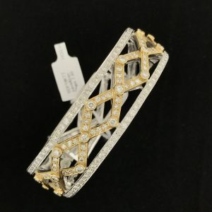Harry Glinberg Jewelers - 18K Two Tone Diamond Bracelet