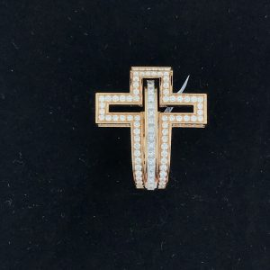 Harry Glinberg Jewelers - Rodger Dubuis Rose Gold Diamond Cross Ring