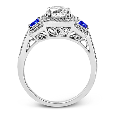 Harry Glinberg Jewelers - 18K White Gold Engagement Ring