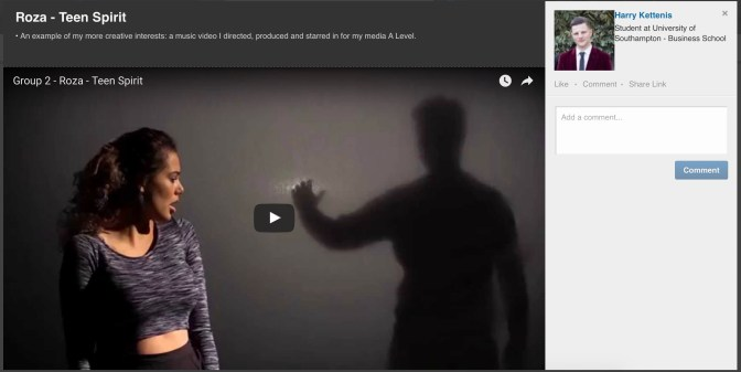 A national award winning video that I produced embedded into my LinkedIn profile