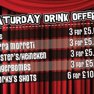 saturday drink offers