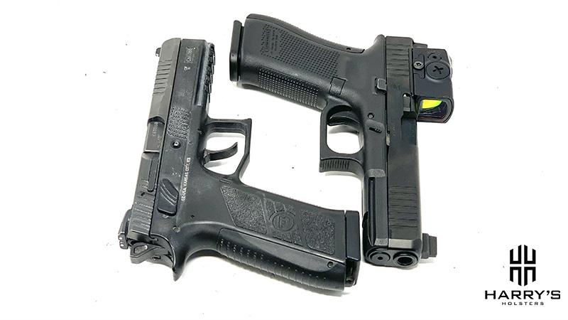 CZ P09 vs Glock 17 together