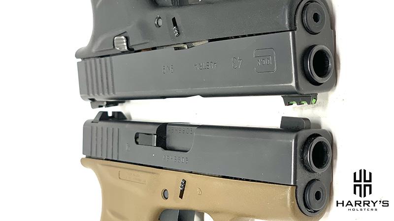 Glock 42 vs Glock 43 slides