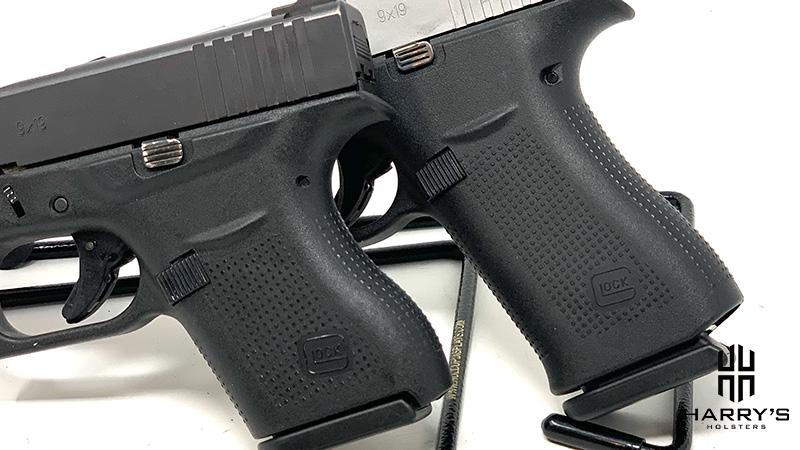 Glock 43 vs Glock 43x grip
