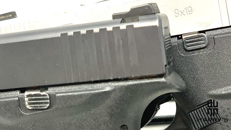 Glock 43 vs Glock 43x slide stop