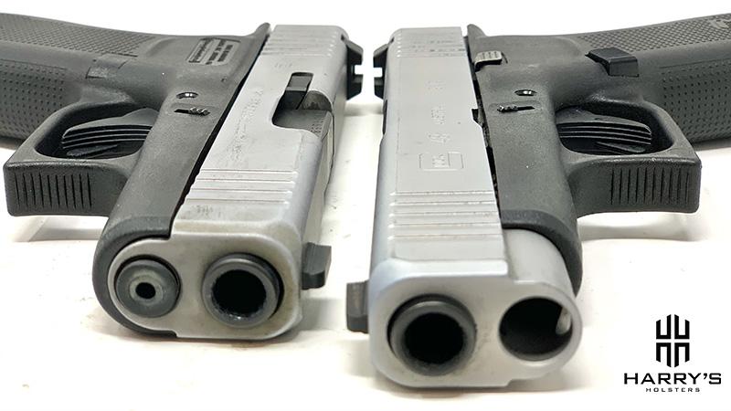Glock 43x vs Glock 48 slides front