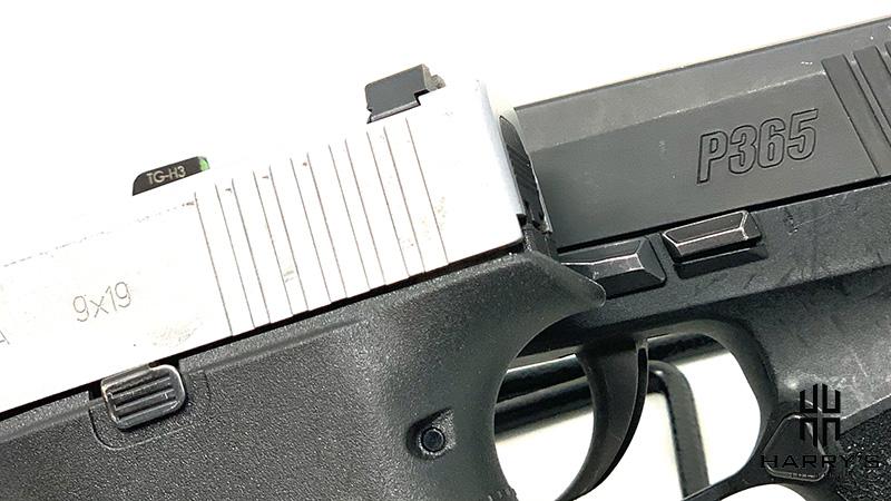 Glock 43x vs Sig P365 controls