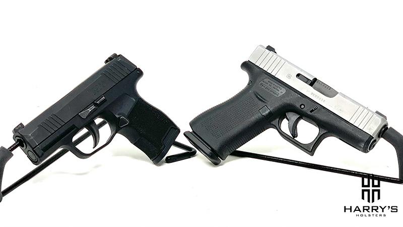 Glock 43x vs Sig P365 facing away
