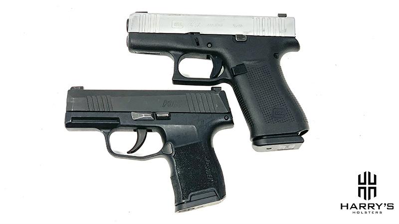 Glock 43x vs Sig P365 top