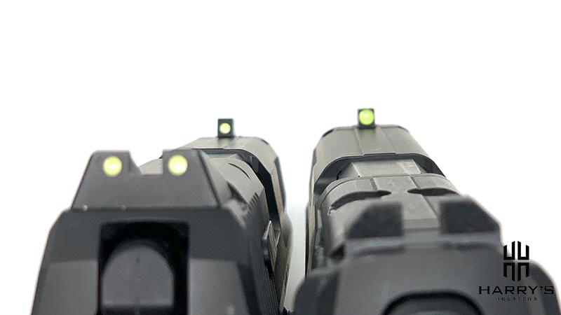 HK VP9 vs P30 sights